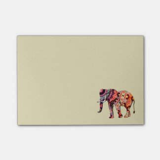 Post-it® Éléphant multicolore coloré