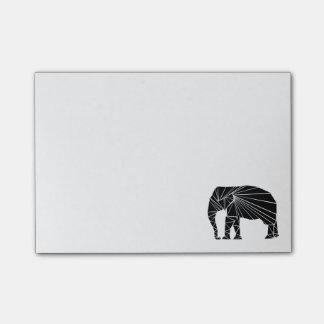 Post-it® Éléphant noir géométrique