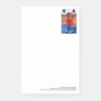 Post-it® Éléphant par les grandes notes de post-it de