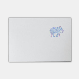 Post-it® Éléphant rose et bleu de damassé