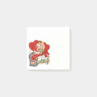 Post-it® Fille vintage de Valentine