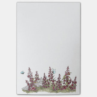 Post-it® Fireweed mignon de l'Alaska avec des notes de
