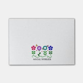 Post-it® Fleurs, coeurs, et papillons d'assistant social…