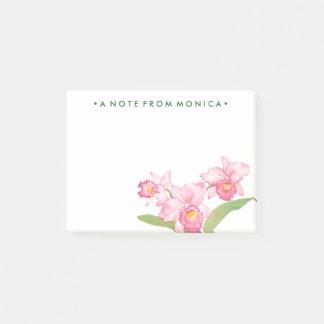 Post-it® Fleurs exotiques roses d'aquarelle