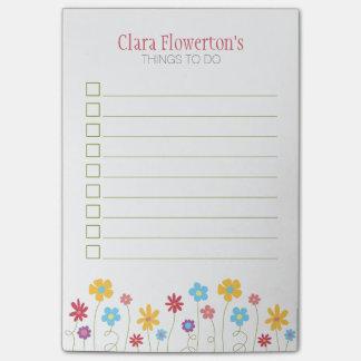 Post-it® Fleurs géniales de ressort pour faire la liste