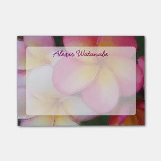 Post-it® Fleurs tropicales de plage de Plumeria de