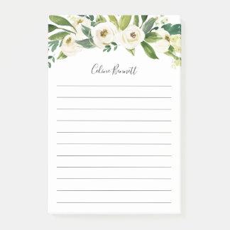 Post-it® Floral d'albâtre personnalisé rayé