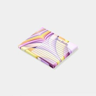 Post-it® Fractale colorée par pastel. Rayé. Ajoutez le