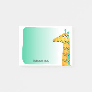 Post-it® Girafe scandinave colorée de style