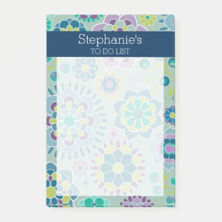 Post-it® Girly pour faire le motif floral de liste - marine