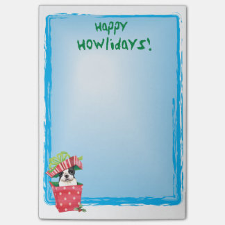 Post-it® Howlidays heureux Boston Terrier