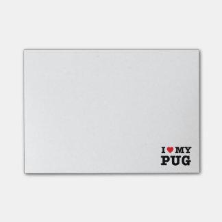 Post-it® I coeur mes notes de post-it de carlin