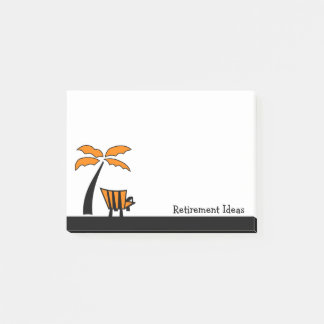 Post-it® Idées de retraite de chaise et de palmier de plage