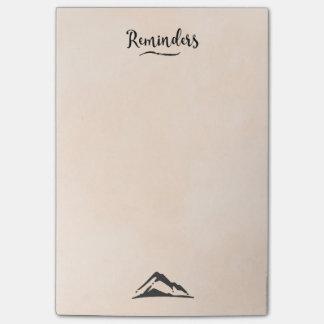 Post-it® Illustration de montagne dans le noir - rappels