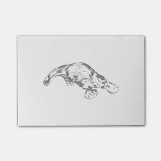 Post-it® Illustration noire et blanche réaliste