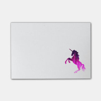 Post-it® Image scintillante de belle licorne rose de