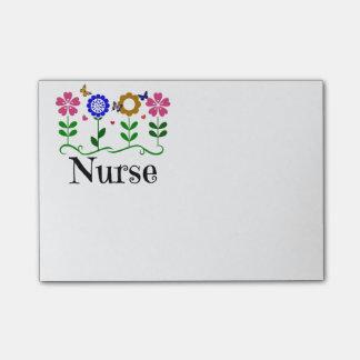 Post-it® Infirmière--Coeurs, fleurs et papillons