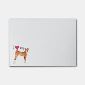 Post-it® J'aime mon Basenji