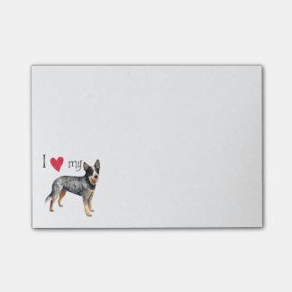 Post-it® J'aime mon chien australien de bétail
