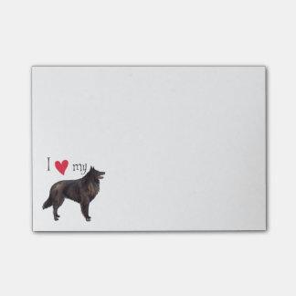 Post-it® J'aime mon chien de berger belge