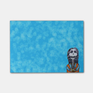 Post-it® Jour heureux coloré du squelette mort
