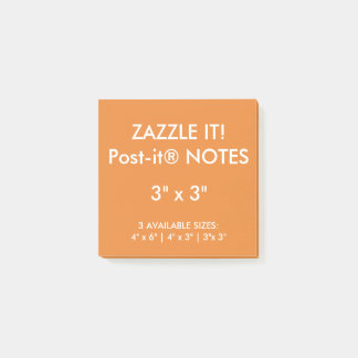 "Post-it® La coutume a personnalisé 3"" blanc carré de notes"