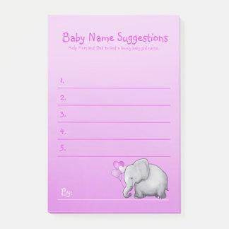 Post-it® La douche mignonne de bébé d'éléphant rose