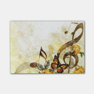 Post-it® La musique de papillon note des notes de