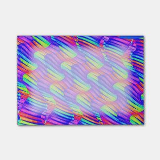 Post-it® La vague lumineuse colorée d'arc-en-ciel tord