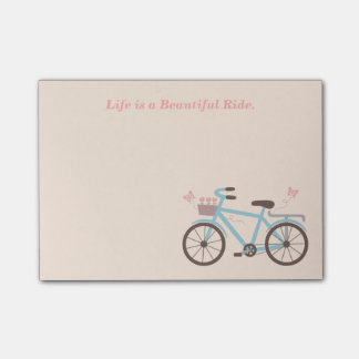 Post-it® La vie de citation de bicyclette est un beau tour