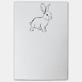 Post-it® Lapin adorable de bande dessinée douce de lapin