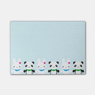 Post-it® Lapin et panda mignons superbes de Kawaii