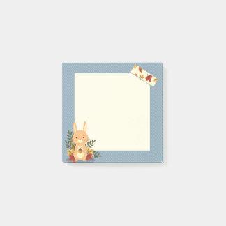 """Post-it® Lapin mignon 3"""" de temps d'automne x 3"""" notes de"""