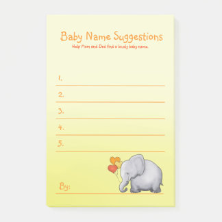 Post-it® Le baby shower neutre d'éléphant mignon suggèrent
