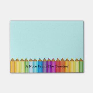 Post-it® Le bloc-notes du professeur coloré de crayons