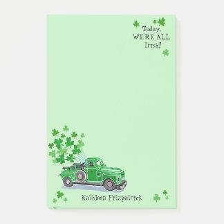 Post-it® Le camion vintage de vert du jour de St Patrick