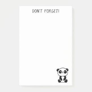 Post-it® Le Courrier-it® se reposant d'ours panda note 4 x