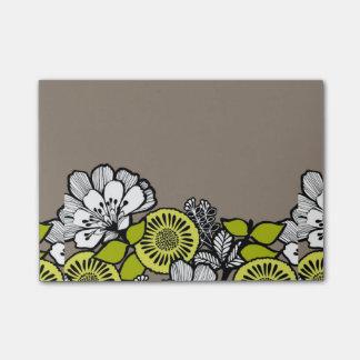 Post-it® Le gris fleurit des notes de post-it