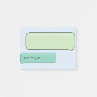 """Post-it® Le message textuel de SMS """"n'oublient pas"""","""