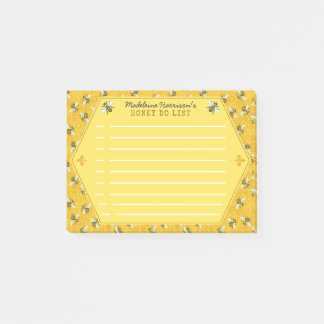 Post-it® Le nid d'abeilles d'abeille gaffent l'abeille que