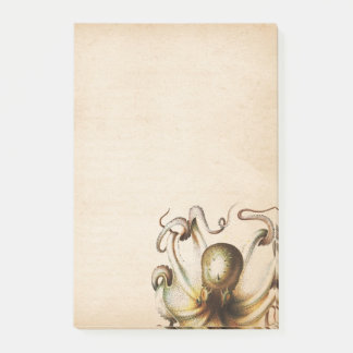Post-it® Le poulpe en bronze a vieilli le voyage de