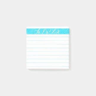 Post-it® Le Ventre-DA ! Notes de post-it de liste/liste de