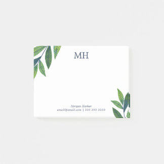Post-it® Le vert vert laisse le monogramme