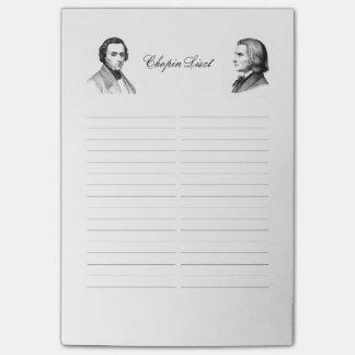 Post-it® Liste d'achats Chopin Liszt