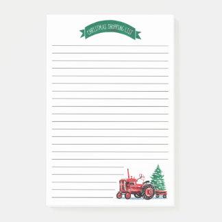 Post-it® Liste d'achats vintage rouge d'arbre de Noël de