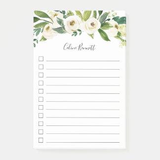 Post-it® Liste de remue-ménage personnalisée florale