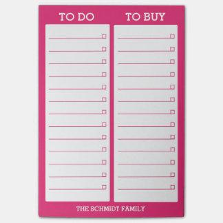 Post-it® Liste personnalisée à faire, pour acheter - des
