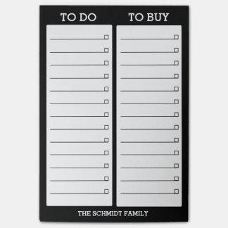 Post-it® Liste personnalisée à faire, pour acheter - le