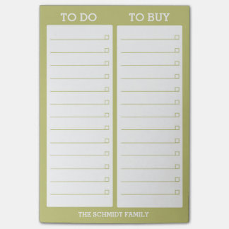 Post-it® Liste personnalisée - pour faire, pour acheter -