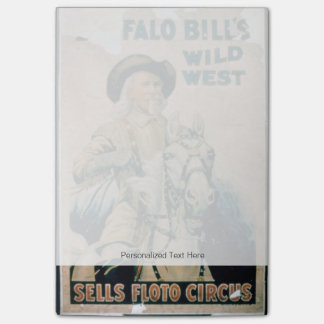 "Post-it® ""L'ouest sauvage de Buffalo Bill"", cirque de Floto"